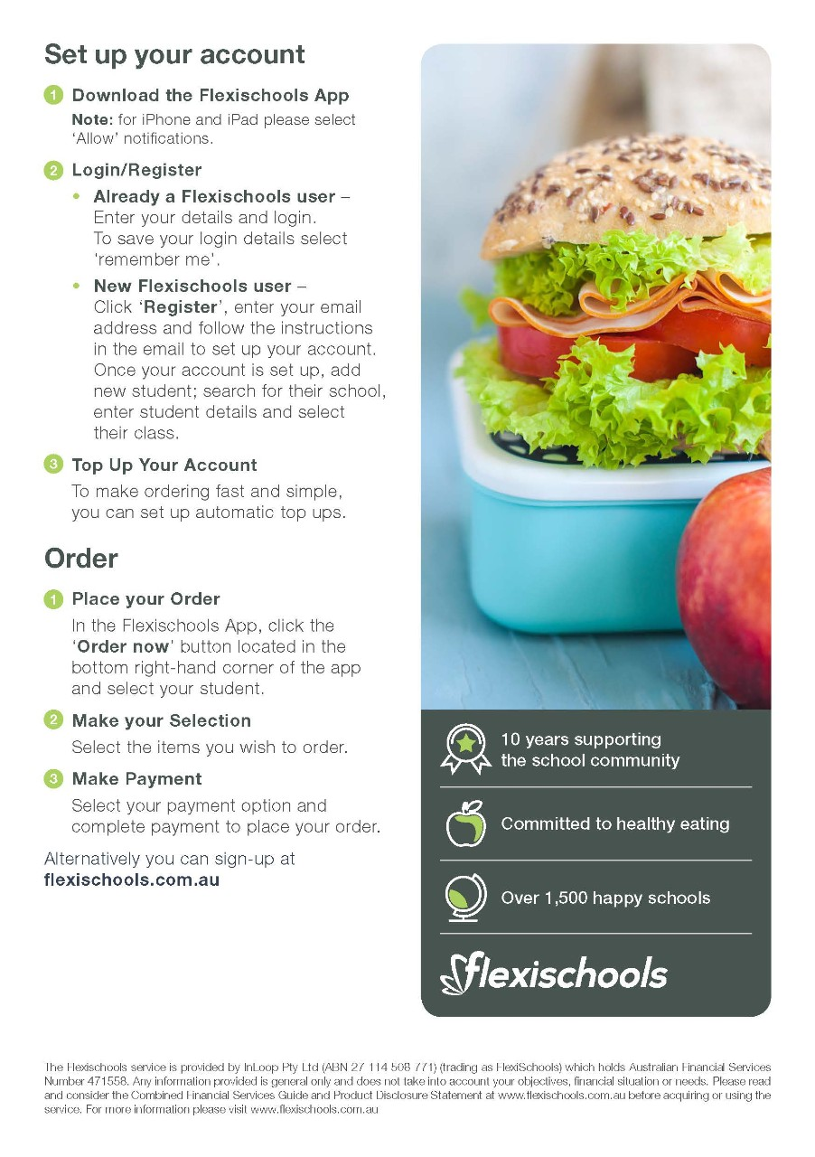Procedure for ordering lunches